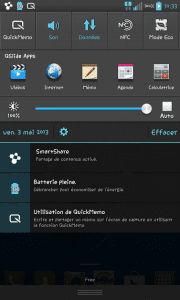 screen berre de notifi