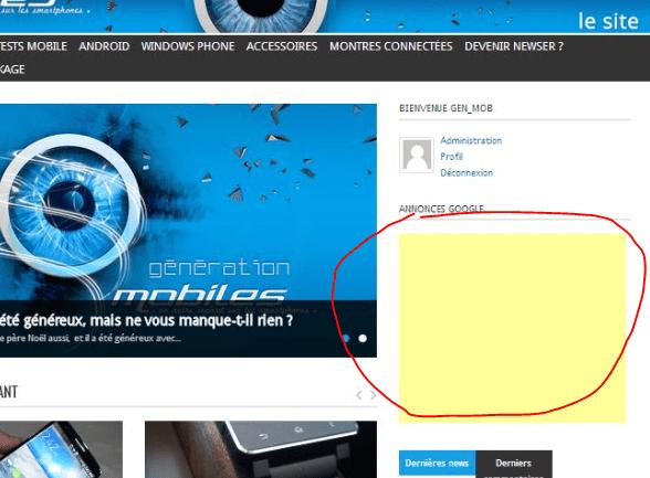 Information importante pour les membres et les visiteurs du site Génération mobiles Capture42