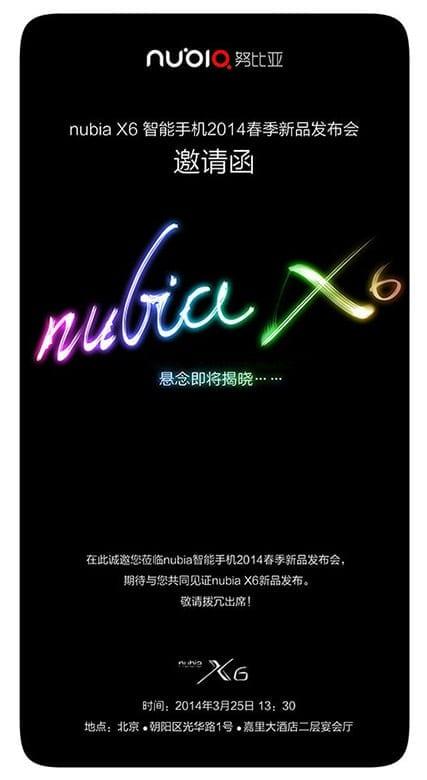 Nubia-X6-Launch