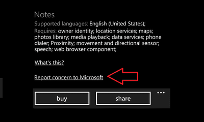 Report_Concern_Windows_phone