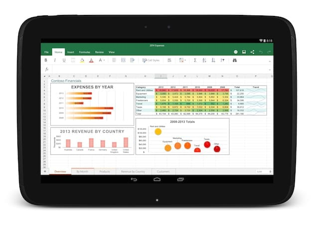 Microsoft office pour tablette android arrive g n ration mobiles - Office tablette android gratuit ...