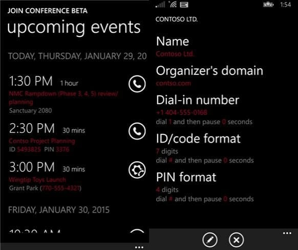 join-conference-beta-windows-phone
