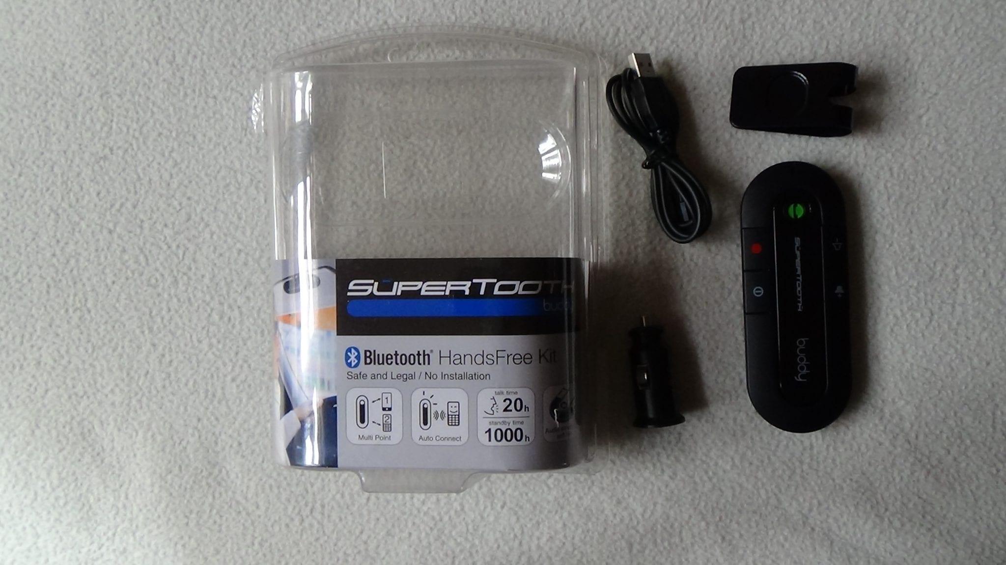 test kit main libre bluetooth pour voiture buddy supertooth