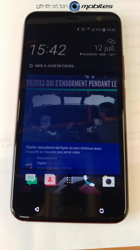 [TEST] HTC U11 Rouge Solaire 4.5