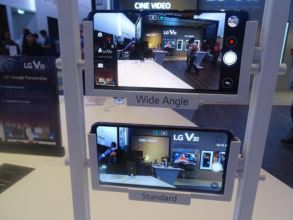 IFA 2017 LG V30 camera