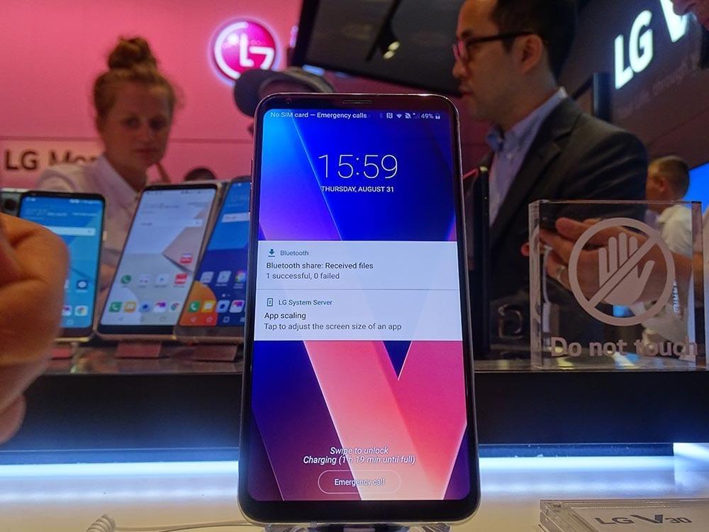 LG V30 IFA 2017 ecran