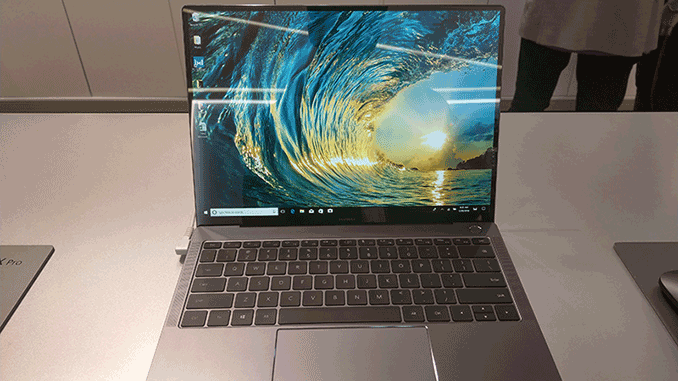 huawei matebook x pro mwc 2018