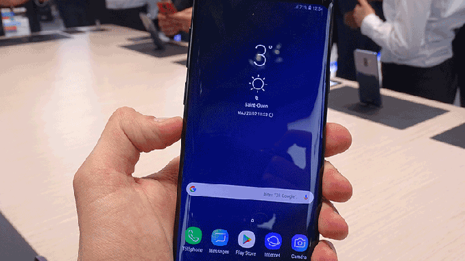 prise en main samsung galaxy s9 mwc 2018
