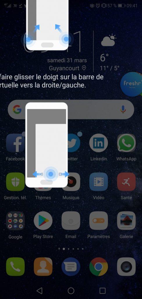 Test Huawei P20 Pro interface