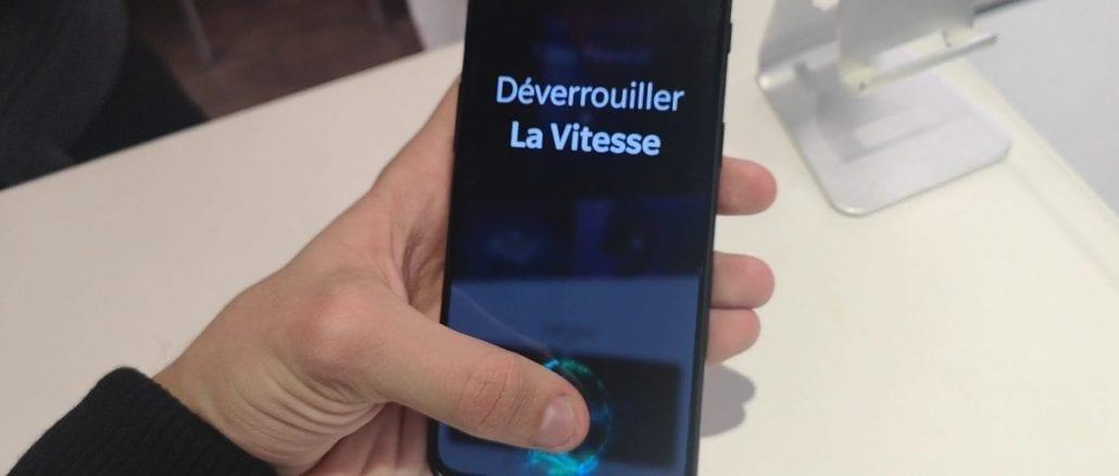 OnePlus 6T capteur empreinte sous l'ecran