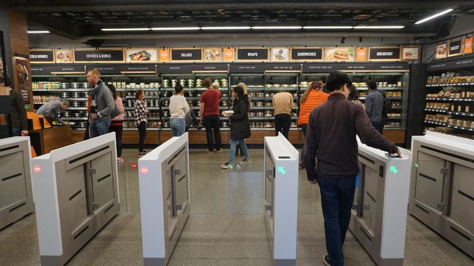 Amazon Go smartphone magasin connecte