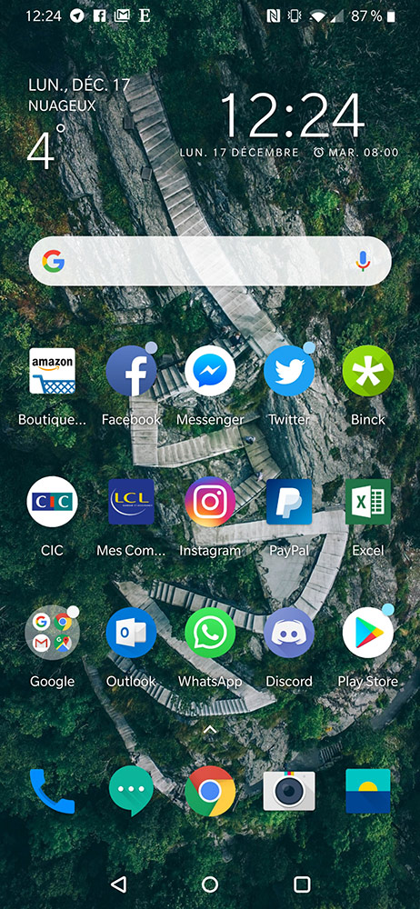 test oneplus 6t accueil interface