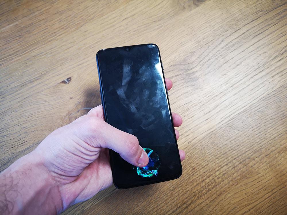 test oneplus 6t capteur empreinte sous ecran noir