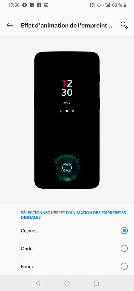 test oneplus 6t capteur empreintes digitales sous l ecran