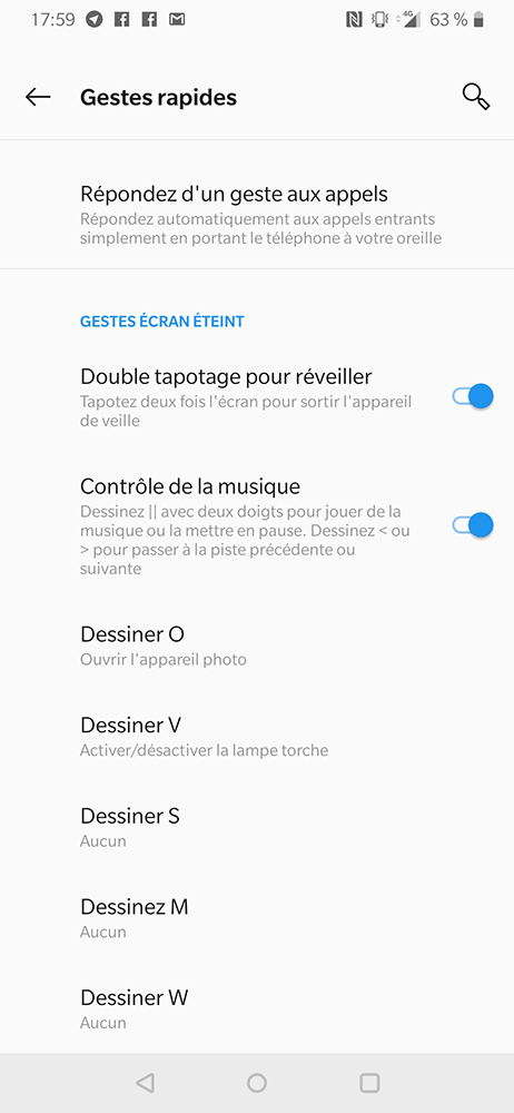 test oneplus 6t gestes rapides