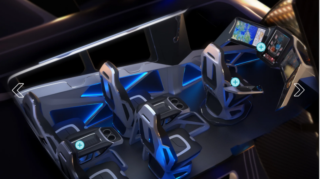 voiture volante cockpit