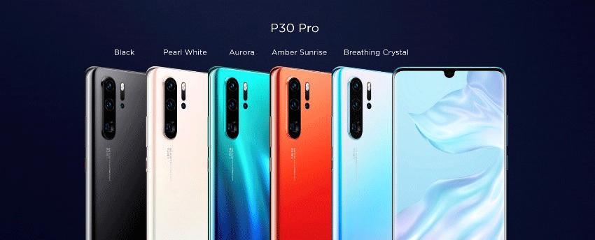 coloris huawei p30 pro