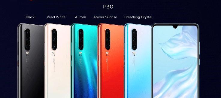 coloris huawei p30