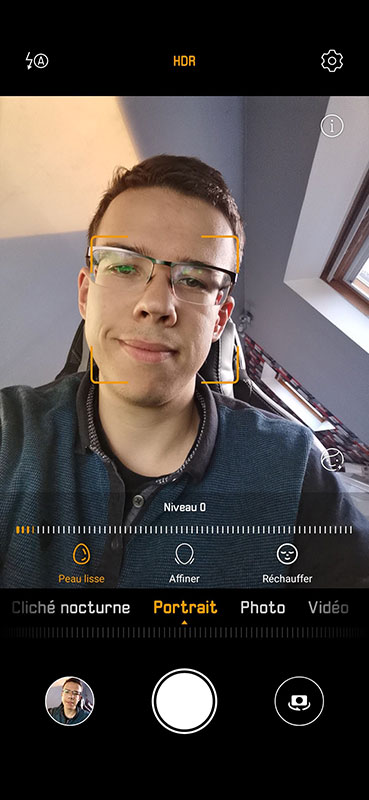 test huawei p30 application appareil photo portrait