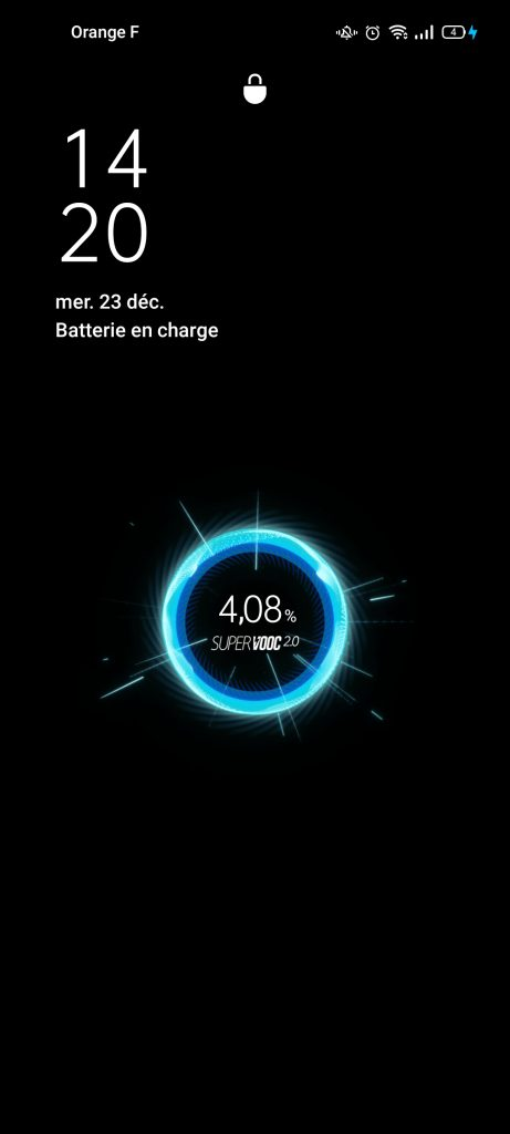 Test Oppo Reno 4 Pro 5G charge super vooc